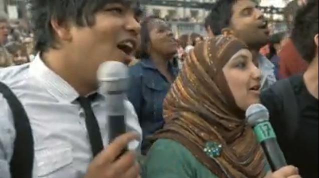 karaoke a Trafalgar Square