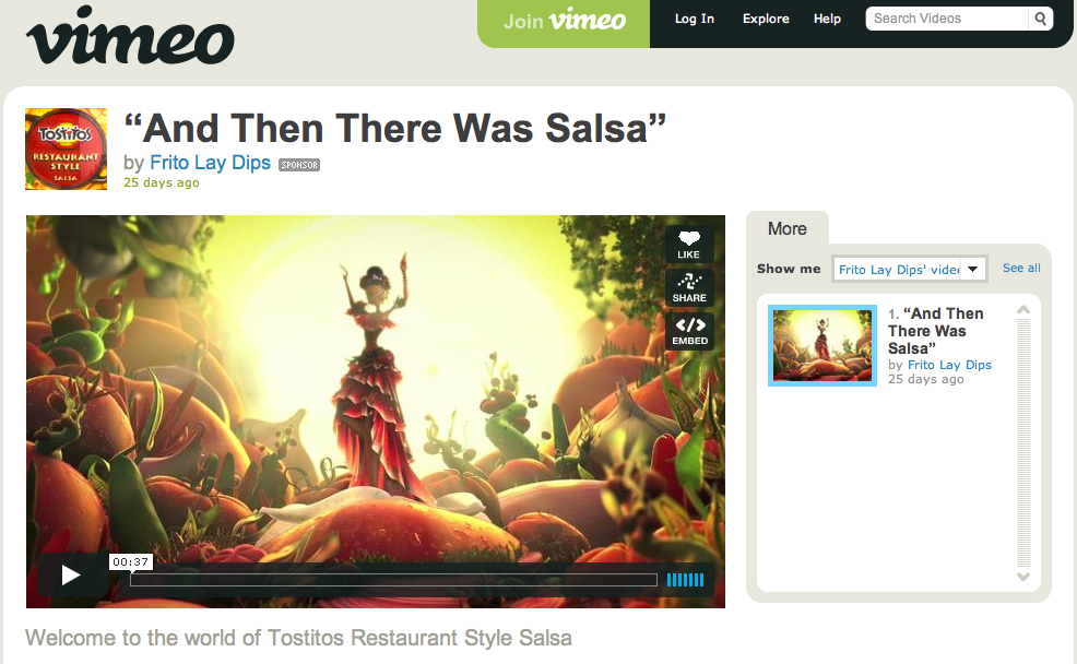 vimeo Frito Lay Dips
