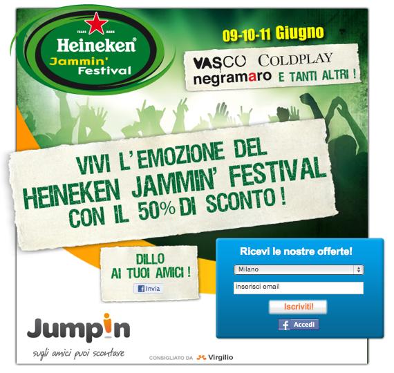 Jumpin Heineken Jammin Festival offerta