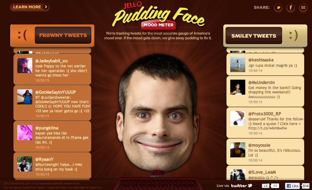 Pudding Face Mood Meter