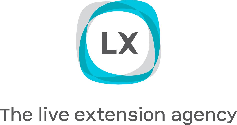 Logotipo  LX con claim