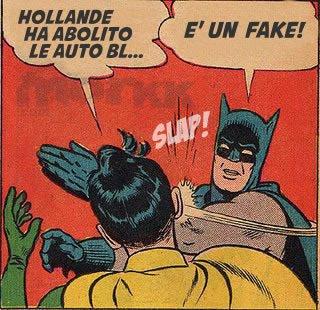 Cosa ha fatto Hollande ... parodia Batman e Robin