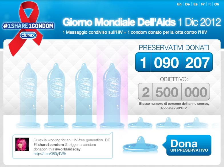 Durex: 1 share 1 condom