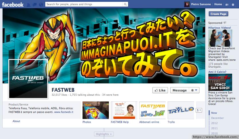 Facebook Fastweb