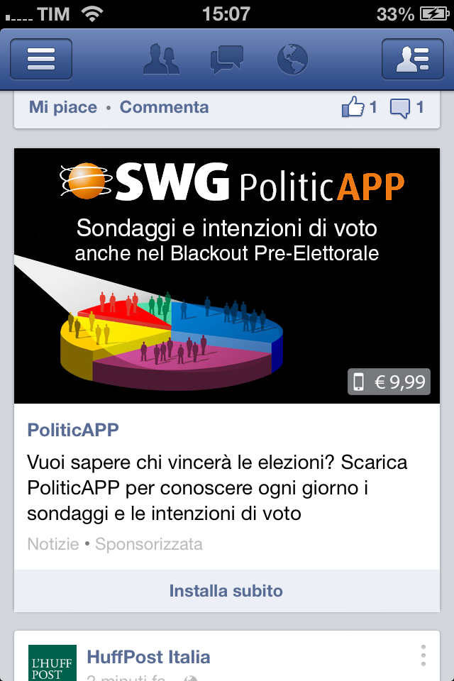 SWG PoliticAPP iPhone ad
