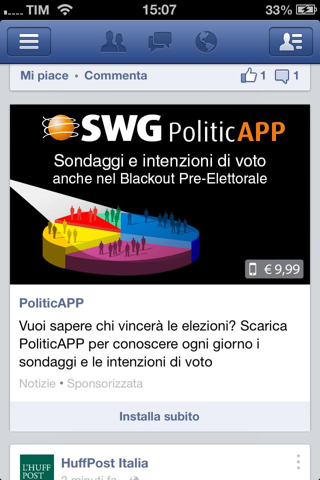 SWG PoliticAPP iPhone ad