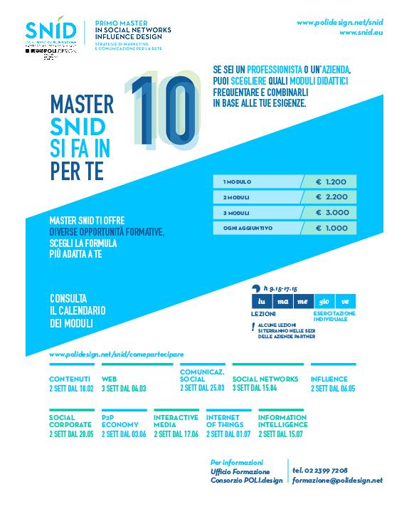 Master SNID si fa in 10 per te