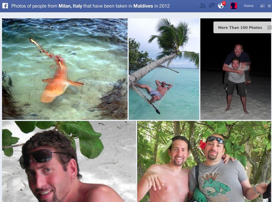photos of people from Milan taken at Maldives