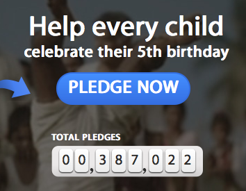 help every child celebrate their 5th birthday