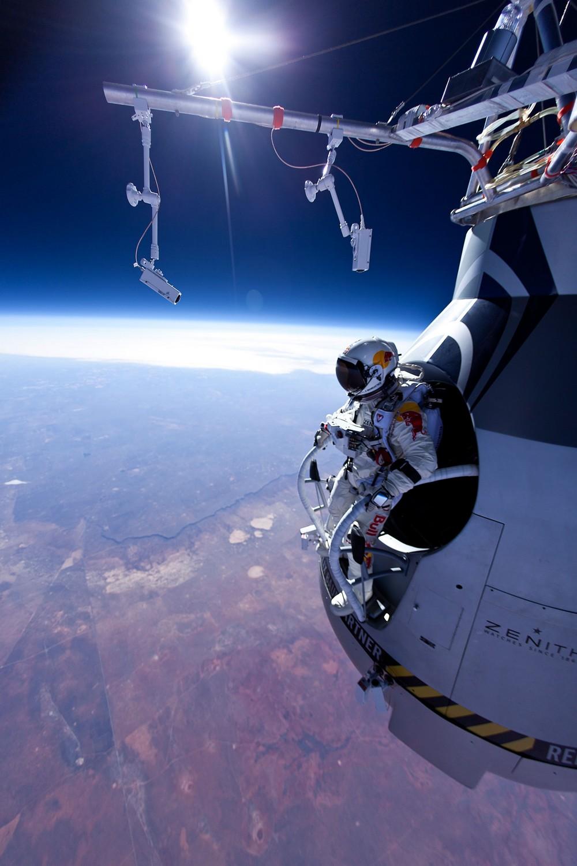 Felix Baumgartner launch