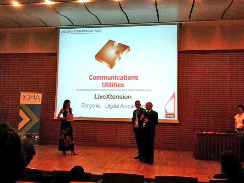 la premiazione di LiveXtension e Sorgenia