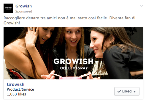 Growish Page Like Ad