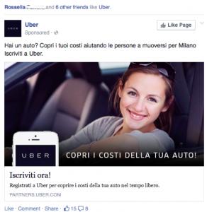 Uber. Hai un auto