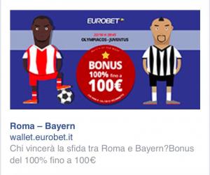 Eurobet Roma Bayern Olympiacos Juventus