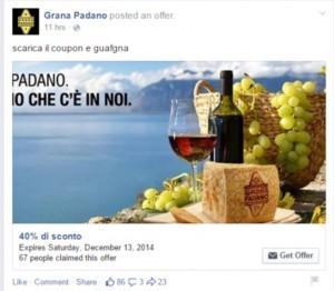 Grana Padano: guafgna con il coupon