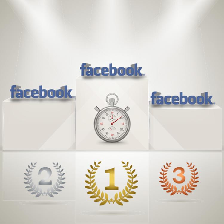 Il podio del tempo speso online sui social network in Italia