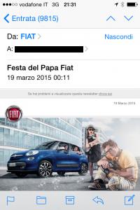 Special edition DEM: Fiat festeggia il .. Papa