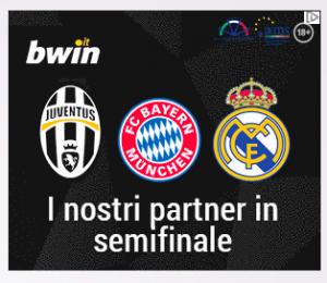 Bwin con squadre in semifinale di Champions League (2 delle tre sono già state eliminate da un pezzo)