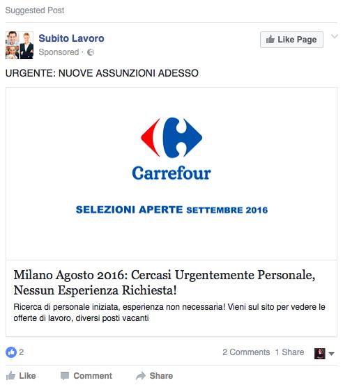 Nessun esperienza - Carrefour assunzioni