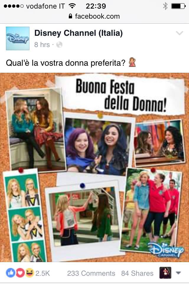 Disney Channel - Buona festa della Donna