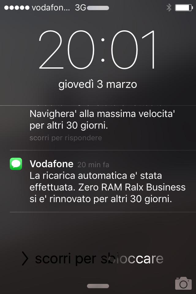 SMS ignorante Vodafone