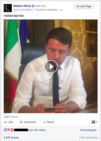 Matteo Renzi Live